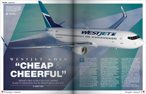 "WESTJET GOES ""CHEAP AND CHEERFUL"""