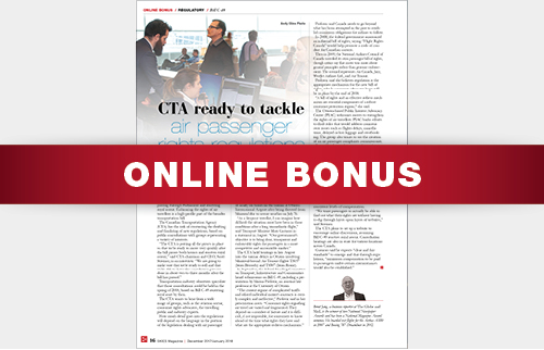 ONLINE BONUS: CTA TO TACKLE AIR PASSENGER RIGHTS REGULATIONS