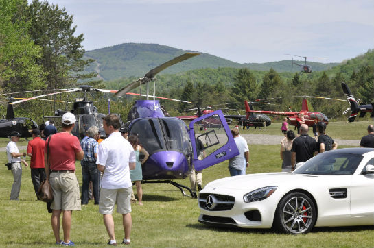 This year's fly-in saw 40 rotorcraft touch down on the grass runway over two hot and sunny days.