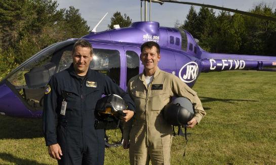 ell Helicopter test pilot Yann Lavallee and flight test engineer Bernhard Willenbrink