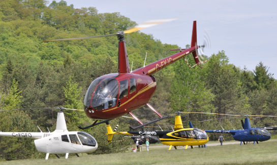A record of 27 Robinson models were seen at this year's fly-in