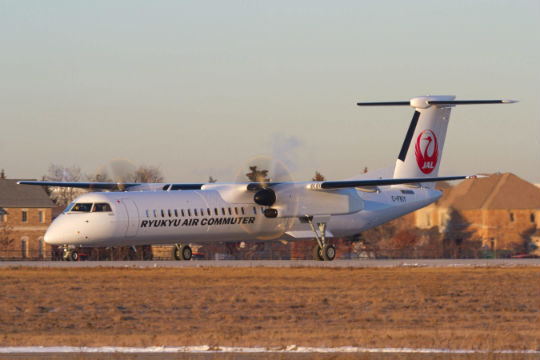 Bombardier Delivers First Q400 Cargo Combi Aircraft To