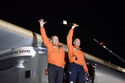 Swiss pilot and explorer Bertrand Piccard completed a 40,000 kilometre trip around the world