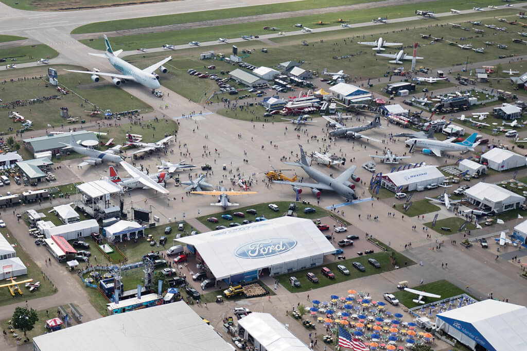 About 10,000 aircraft made the trip to Wisconsin for EAA AirVenture 2016. Warren Liebmann Photo