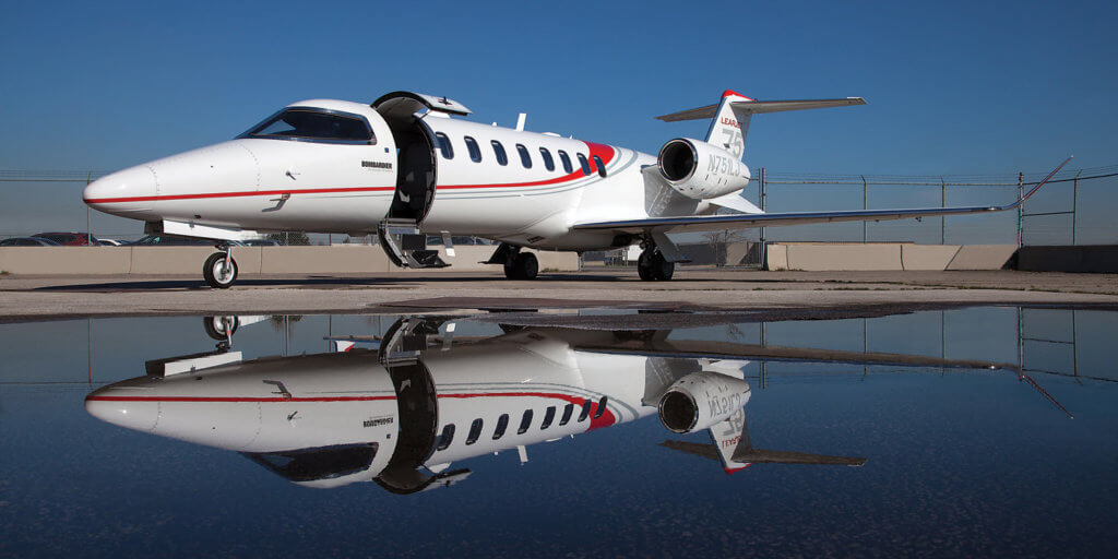 The Lear 75 features upgraded engines over the 45 model