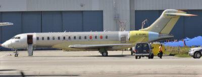 Global 7000 flight test