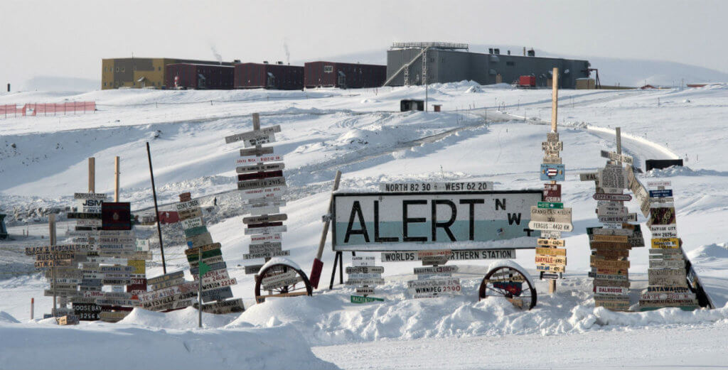 No permanent human settlement sits farther north on this planet than Canadian Forces Station (CFS) Alert.