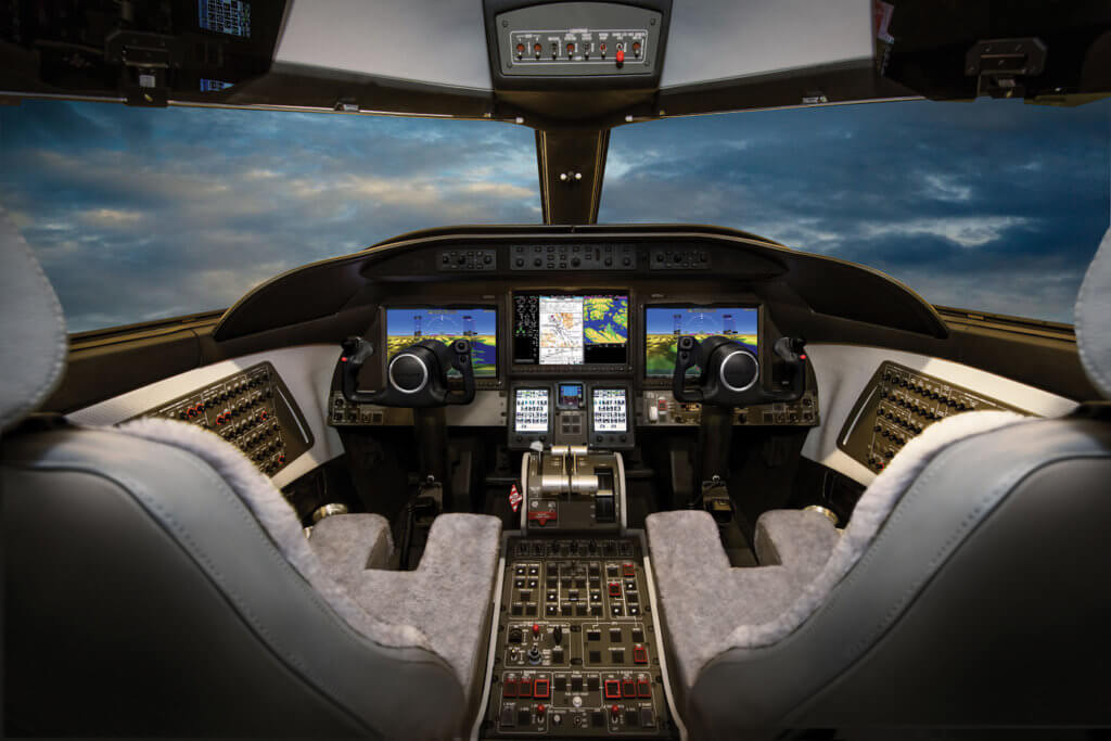 The Learjet 75 features the Garmin G5000-based