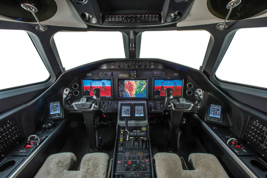 The cockpit features the innovative and capable Garmin G5000 avionics suite. Paul Bowen Photo