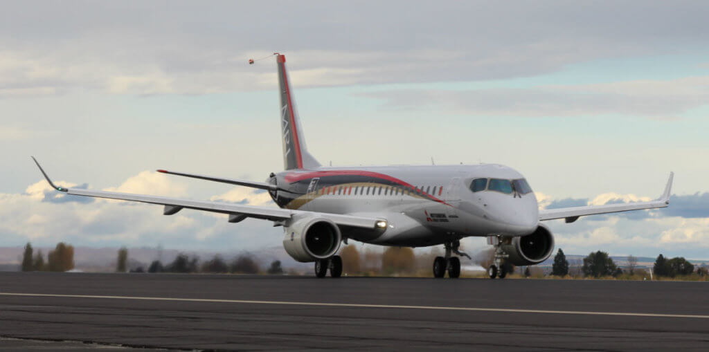 first flight test aircraft (FTA-1) of the Mitsubishi Regional Jet