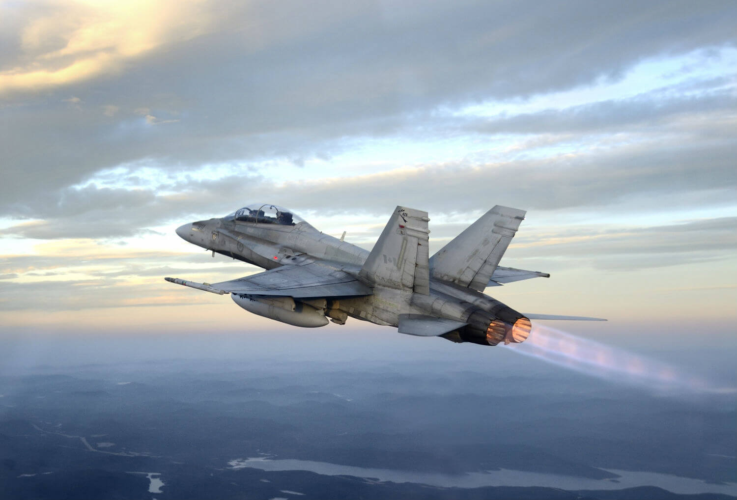 A CF-188 Hornet in flight