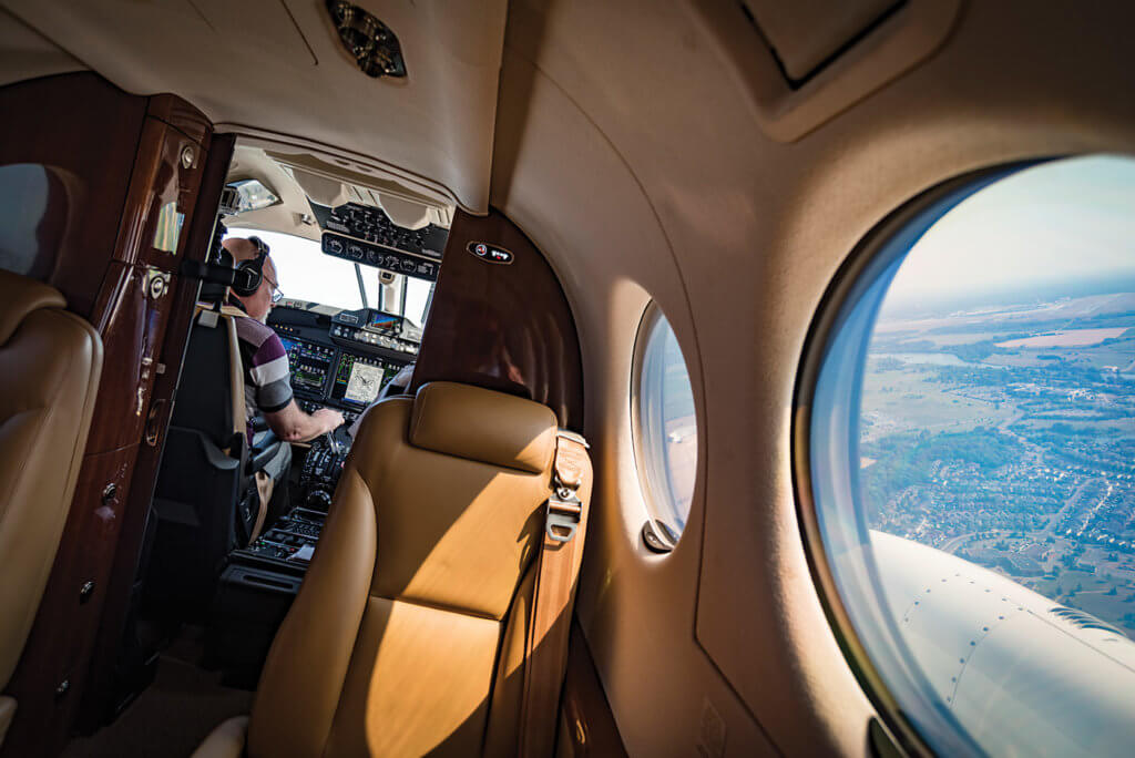Textron has also introduced some enhancements into the King Air cabin, including standard Wi-Fi connectivity. Peter Handley Photo