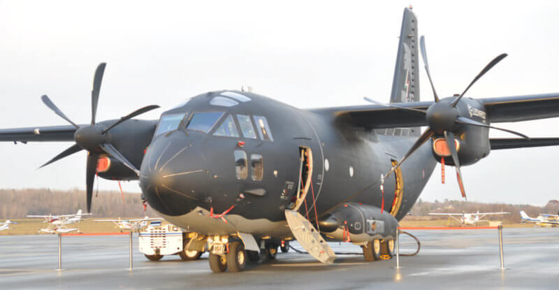 C-27J Spartan rests on the ground
