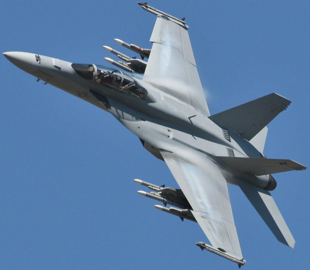 Boeing Super Hornet in flight