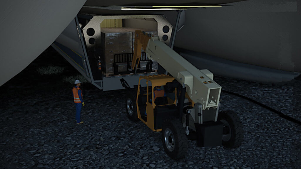 The LHM-1 can carry up to 21,000 kilograms of payload in its cargo bay.