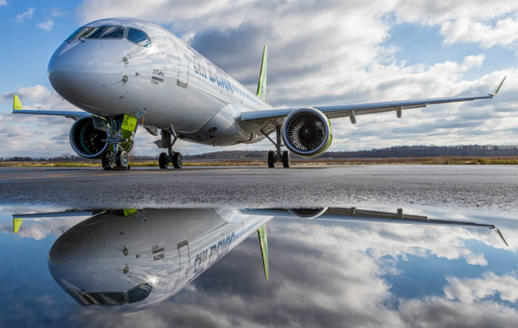 Six airBaltic pilots recently completed minimal differences training and are now qualified to fly the CS300 aircraft. Bombardier Photo