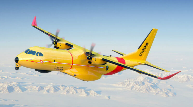 The C295W features two Pratt & Whitney Canada PW127G turboprop engines, a Lockheed Martin mission system, and an L-3 Wescam advanced electro-optical/infrared turret system. Airbus Photo