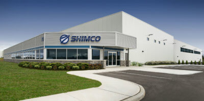 This artist's rendering shows the planned addition (back right) to Shimco's facility in Cambridge, Ont. Among other activities, the expansion will house a Centre of Excellence new technology incubator. Shimco Image