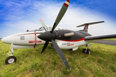 Beechcraft now offers Pratt & Whitney Canada PT6A-67A engines for improved performance on its King Air 350HW and King Air 350ER turboprops. Textron Photo