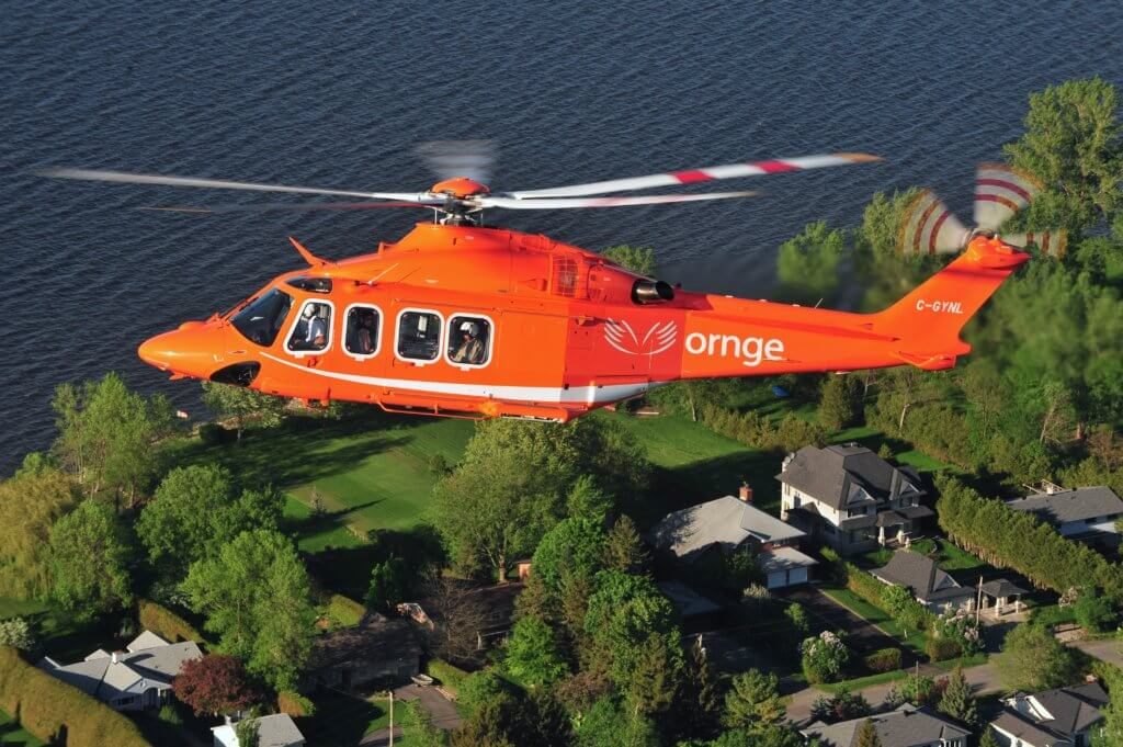 Ornge operates a fleet of 12 Leonardo AW139 helicopters from eight bases across the province of Ontario.