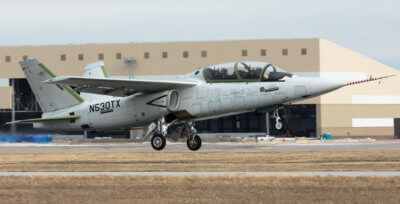 The aircraft took off from McConnell Air Force Base in Wichita and conducted a range of manoeuvres during the one-hour and 42-minute flight. Textron Photo