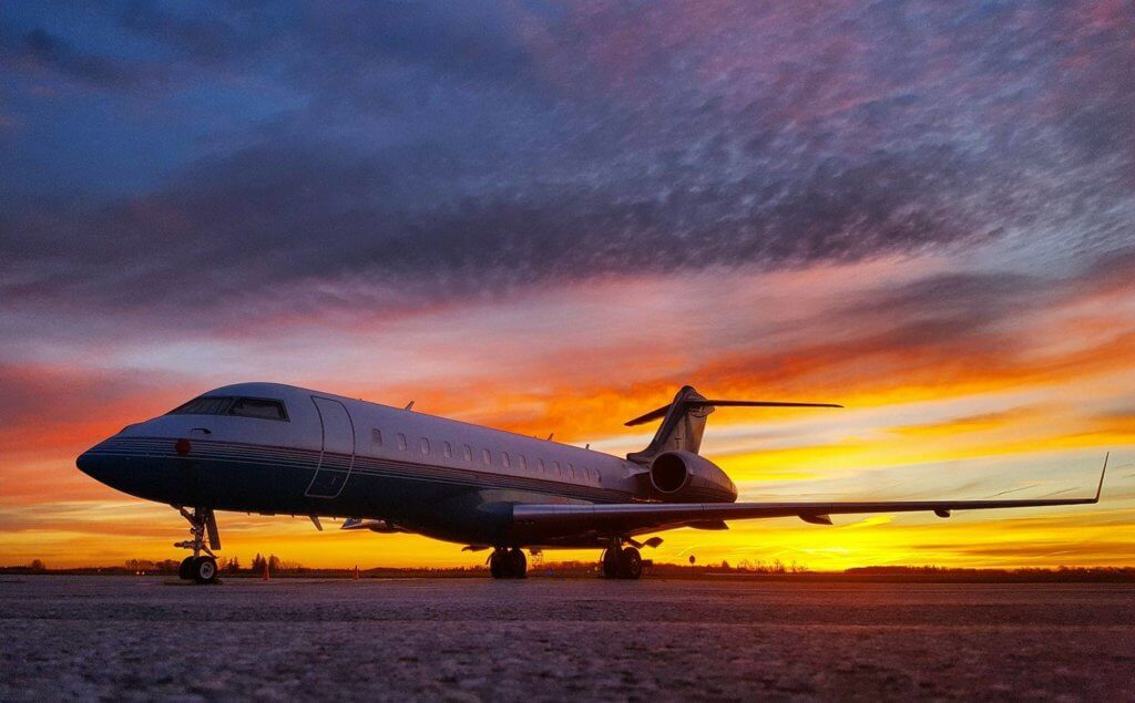 Bombardier Global Express at London International Airport in Ontario. Photo submitted by Tyssen Toll.