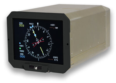 Based on an active matrix liquid crystal display, the CMA-6800 is a form, fit and functional replacement for Honeywell ED-800 cathode ray tubes displays. Operators can replace the ED-800s on each aircraft all at once or one at a time, resulting in a simple and flexible replacement solution with minimal disruption to aircraft operations. Esterline Photo