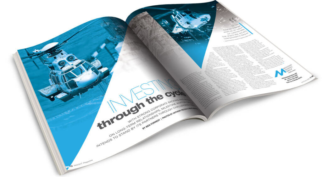 Insight magazine open to sample layout.