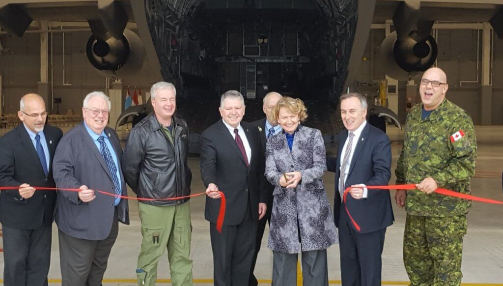 Karen McCrimmon, Parliamentary Secretary to the Minister of Veterans Affairs; and Neil Ellis, Member of Parliament for Bay of Quinte, opened the new $92 million facility on behalf of Defence Minister Harjit S. Sajjan on Jan. 25, 2017. Photo courtesy of Karen McCrimmon