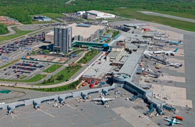 An aerial view of Halifax Stanfield International Airport.