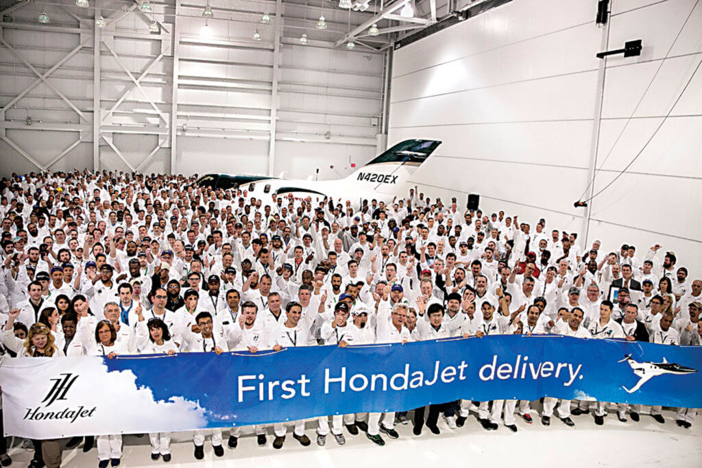 The first aircraft was delivered on Dec. 23, 2015 at Honda Aircraft's world headquarters in Greensboro, N.C.