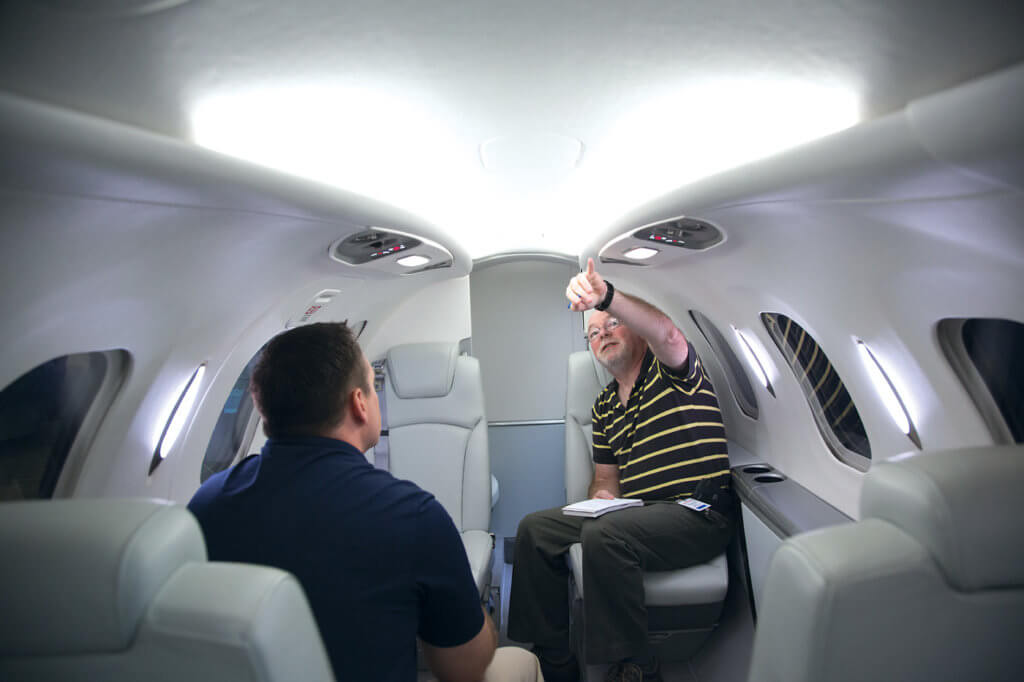 The interior inspection tried to discover how an airplane can be small on the outside and big on the inside.