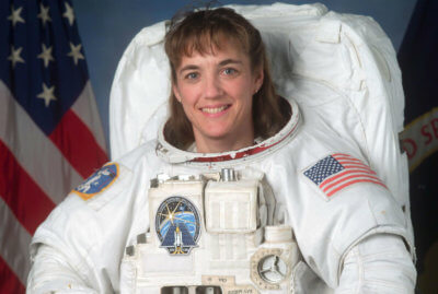Aside from NASA Mission Specialist and builder of space stations, Stefanyshyn-Piper is a 30-year veteran of the U.S. Navy having served as mechanical engineer, diver, salvage officer, surface warfare officer and commanding officer with numerous awards and commendations to her credit. NASA Photo