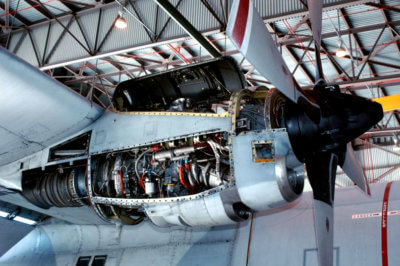 The Rolls-Royce T56/501-D engine is installed on a variety of aircraft, including Lockheed Martin's C 130/L-100 Hercules transport family and P-3 Orion anti-submarine warfare platform, as well as Northrop Grumman's E-2 Hawkeye early warning aircraft. Vector Photo