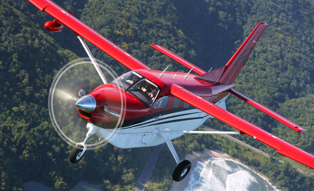 The 10-seat Kodiak 100 is an unpressurized, entry-level aircraft in the single-engine turboprop category. Daher, manufacturer of the TBM family of high performance single-engine turboprops, will be adding the Kodiak to its aircraft line with the purchase of Idaho-based Quest Aircraft Company. Quest Photo