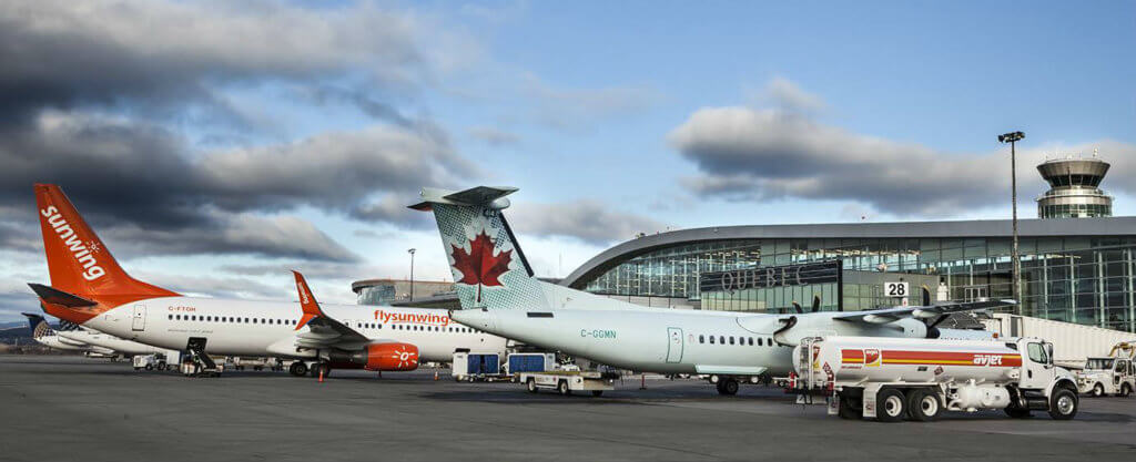 WestJet's increased service to Quebec City Jean Lesage International Airport will also help meet the needs of a growing number of passengers, which has risen in the past 15 years to 1.6 million. YQB Photo