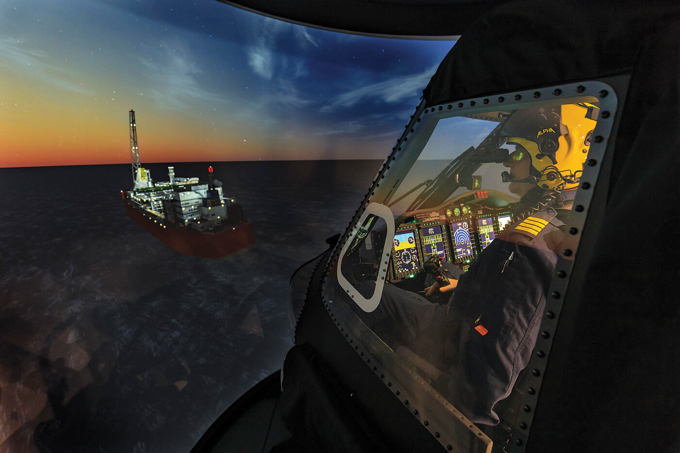 The helicopter training and R&D centre, located in Mount Pearl, N.L., was built and is run by Montreal, Que.-based CAE. It contains a Sikorsky S-92 simulator that is the first Level D simulator in Canada to be compatible with night vision goggles. Heath Moffatt Photos