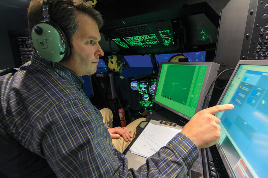 CAE said its Series 3000 simulators can replicate up to 400 malfunctions. Cougar uses it for initial, recurrent, night proficiency, and search and rescue training.