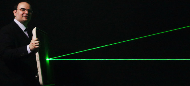Lasers can distract pilots during critical phases of flight and can cause temporary visual impairment. MTI Photo