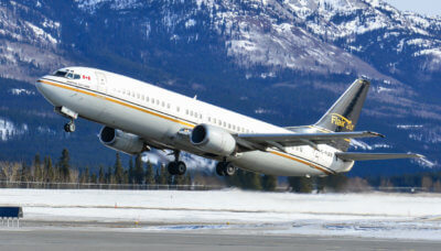 Flights booked through NewLeaf are operated by Flair Airlines, a licensed Canadian airline with an experienced crew and pilots flying Boeing 737-400 passenger jets. Flair Air Photo