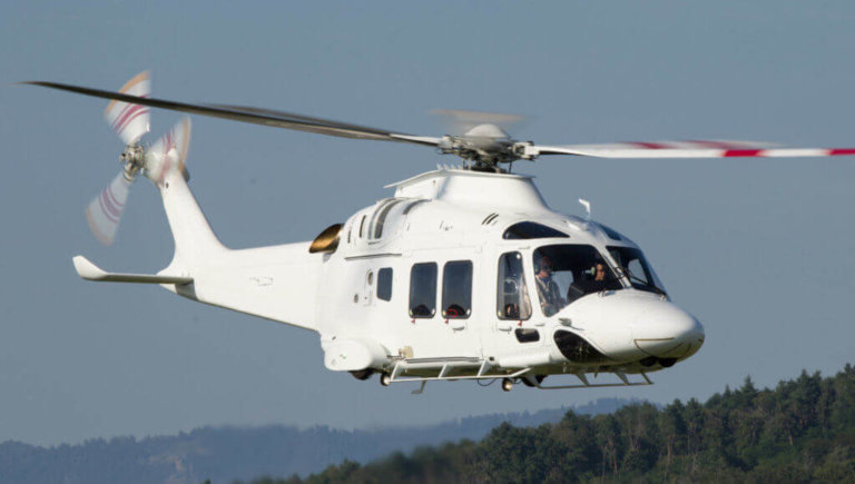 A versatile, new generation twin-engine light-intermediate category helicopter, the AW169, has been designed in response to the growing market demand for an aircraft that delivers high performance, meets all the latest safety standards and has multi-role capabilities. Leonardo Photo
