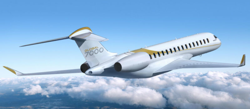A federal loan announced on Feb. 7, 2017, will help to assure continued progress in Bombardier's Global 7000 program. The new business jet, which first flew on Nov. 4, 2016, is targeted for entry into service in the second half of 2018. Bombardier Photo