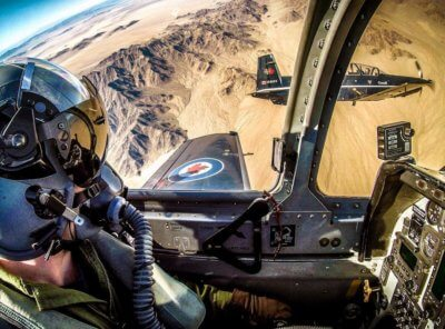 It's hard to beat this view from the cockpit of a Royal Canadian Air Force CT-156 Harvard II training aircraft. Photo submitted by Timothy James Boettcher