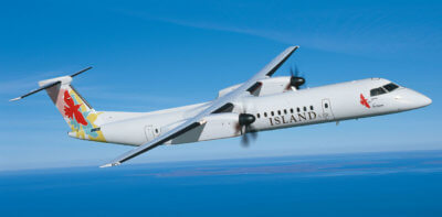 The five-year agreement provides component support for the Q400 aircraft selected to renew and expand Island Air's fleet. Bombardier Photo