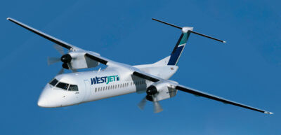 All three new routes will be operated by WestJet's regional airline, WestJet Encore and its fleet of Canadian-made Bombardier Q400s (pictured here). Bombardier Photo