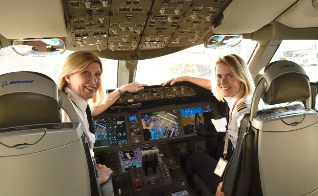 Air Canada acknowledge the achievements and contributions of the more than 12,300 women who work at Air Canada worldwide on March 8, by operating three flights in its global network with all-female pilots and flight attendants. Air Canada Photos
