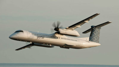 Flights also connect with Ottawa and Billy Bishop Toronto City Airport on the same aircraft. Other destinations in the Porter network are also accessible from these points. Porter Airlines Photo