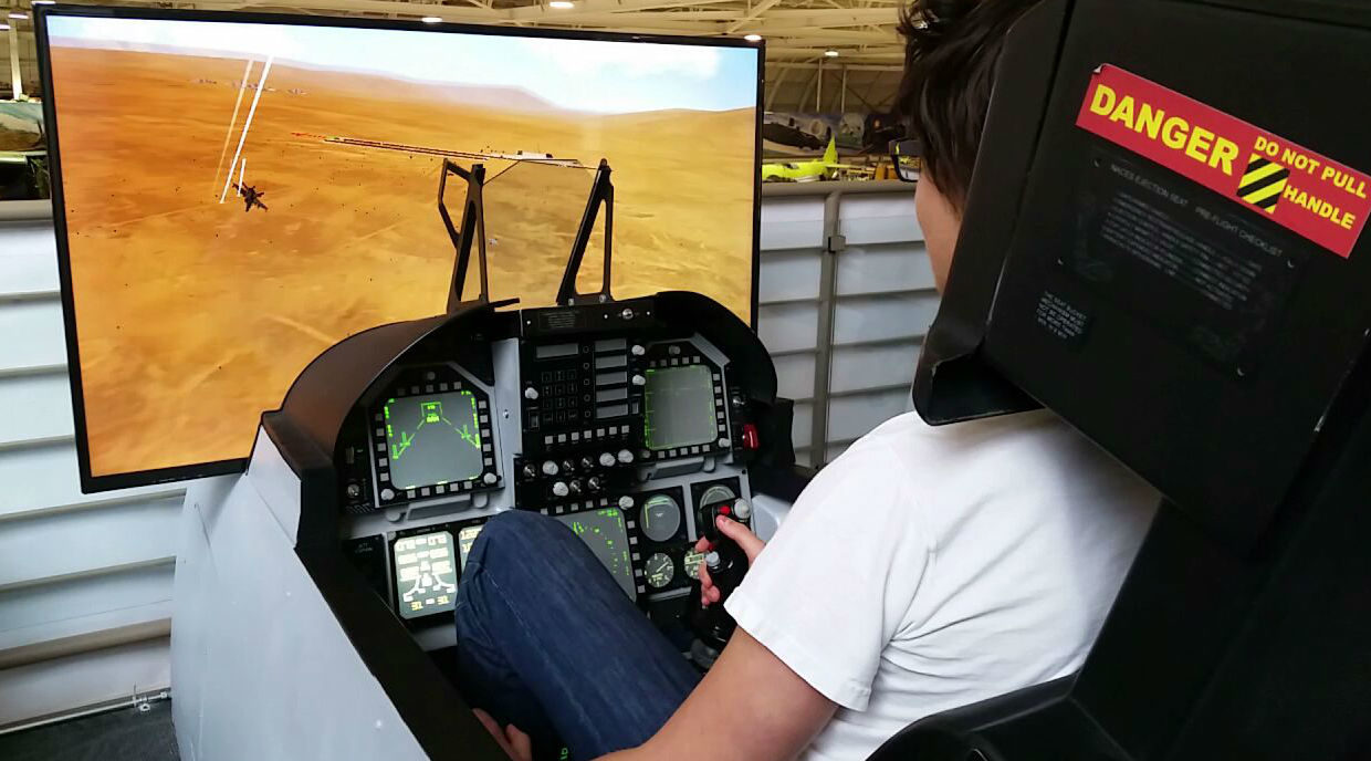 Anyone 10 years and older can fly the simulators, and no experience is required. Locked On Photography Photo