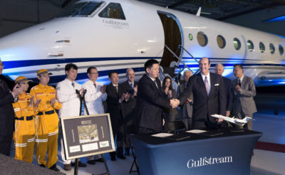 The G550 medevac will be used for disaster relief and air rescue services. The aircraft will feature in-flight emergency resuscitation enabled by hospital beds with inboard tracking capabilities for better doctor-patient access. Gulfstream Photo