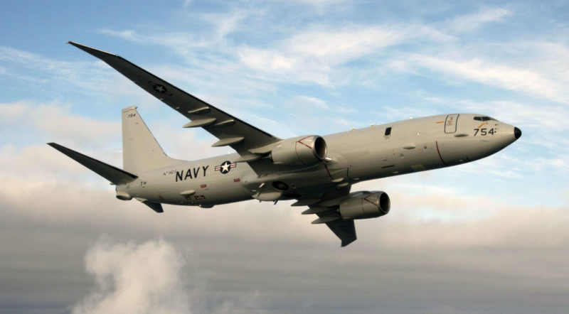 To support the USN's maritime mission requirements, the P-8 incorporates an integrated sensor suite that includes a multi-node radar, an electro-optic infrared camera, and electronic signal detection sensors to find, identify, locate, and track surface targets. For sub-surface targets, the suite includes an integrated acoustic sonobuoy launch and monitoring system. Boeing Photo